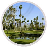 Rancho Mirage Golf Course Round Beach Towel
