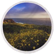 Rancho Palos Verdes Super Bloom Round Beach Towel