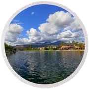 Rancho Santa Margarita Lake Round Beach Towel