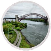 Randall's Island To Hellgate Round Beach Towel