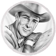 Randolph Scott Round Beach Towel