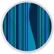 Random Stripes - Electric Blue Round Beach Towel