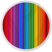 Random Stripes - Rainbow Stripe Round Beach Towel