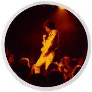 Randy Hansen - Old Waldorf Sf Hendrix Backward Effect Round Beach Towel