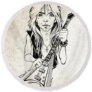 Randy Rhoads Round Beach Towel