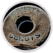 Randy's Donuts - 11 Round Beach Towel