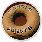 Randy's Donuts - 2 Round Beach Towel