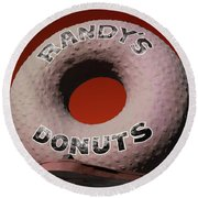 Randy's Donuts - 3 Round Beach Towel