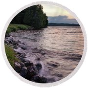 Rangeley Lake State Park In Rangeley Maine  -53215-53218 Round Beach Towel