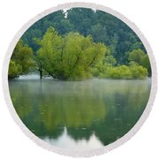 Round Beach Towel featuring the photograph Rankin Reflections by Douglas Stucky