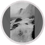 Round Beach Towel featuring the photograph Rapid Stream by Raymond Earley