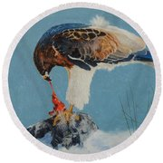 Raptor Round Beach Towel