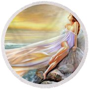 Rapture In Midst Of The Sea Round Beach Towel