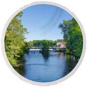 Raritan River - Clinton New Jersey  Round Beach Towel by Bill Cannon