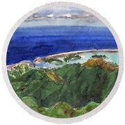 Rarotonga, View From Te Manga Round Beach Towel