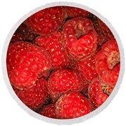 Raspberries Round Beach Towel by Sylvie Leandre