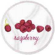 Raspberry Round Beach Towel