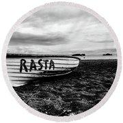 Rasta Noire  Round Beach Towel