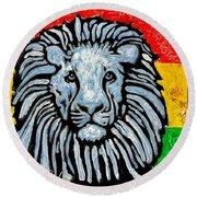Rastafari Lion Round Beach Towel
