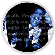 Rat Pack At Carnegie Hall With Quote Round Beach Towel