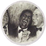 Rat Pack Round Beach Towel by Cynthia Campbell