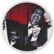 Rat Pack Round Beach Towel by Luis Ludzska