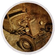 Rat Rod Round Beach Towel