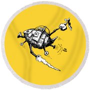 Rats In Space Round Beach Towel