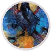 Raven Blue Round Beach Towel