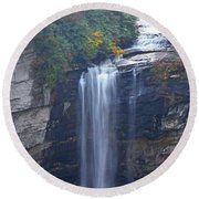Raven Cliff Falls #2 Round Beach Towel