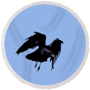 Raven Flight Round Beach Towel