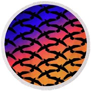 Round Beach Towel featuring the digital art Raven Sky by Timothy Bulone