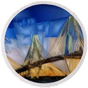 Ravenel At Dusk Round Beach Towel