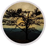 Ravens Roost Hdr Round Beach Towel