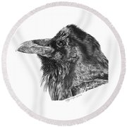 Ravenscroft The Raven Round Beach Towel