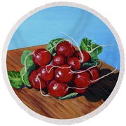 Ravishing Radishes Round Beach Towel
