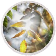 Ray Of Hope Round Beach Towel