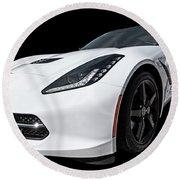 Ray Of Light - Corvette Stingray Round Beach Towel
