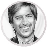 Ray Romano Round Beach Towel
