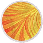 Rays Of Healing Light Round Beach Towel