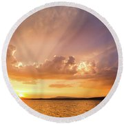 Rays Of Hope Round Beach Towel