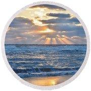 Rays Of Light  Round Beach Towel