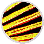 Rays Of Light Round Beach Towel