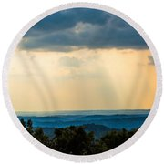 Round Beach Towel featuring the photograph Rays Of Nature by Parker Cunningham