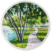 Rcc Golf Course Round Beach Towel