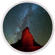 Round Beach Towel featuring the photograph Reach For The Stars by Stephen Stookey