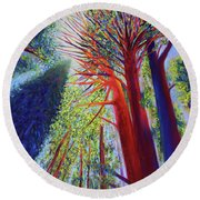Reaching For The Light Round Beach Towel
