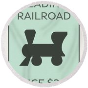 Reading Railroad Vintage Monopoly Board Game Theme Card Round Beach Towel