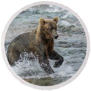 Ready For Action  Round Beach Towel