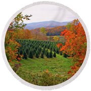 Ready For Christmas Round Beach Towel by Dale R Carlson
